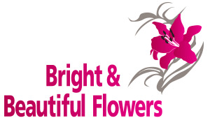 bright and beautiful flowers logo