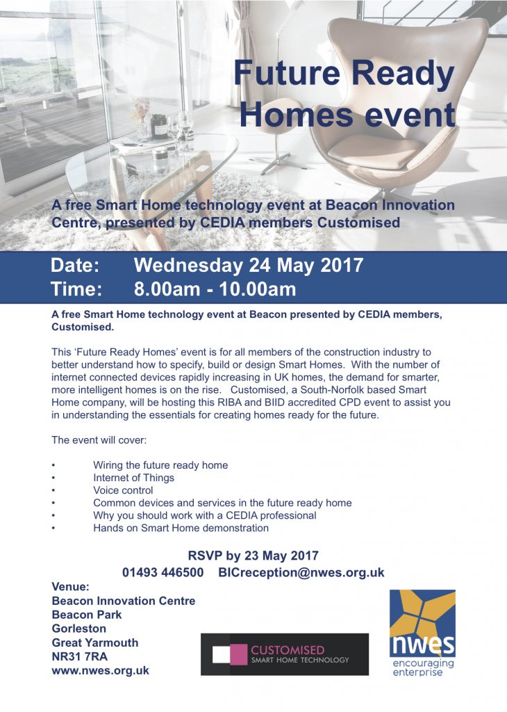 Future Ready Homes Event flyer