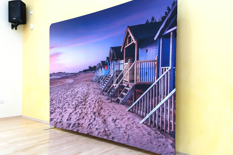 Stunning exhibition backdrop - Wells beachhuts