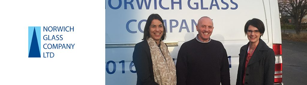 Norwich Glass and Chloe Smith MP