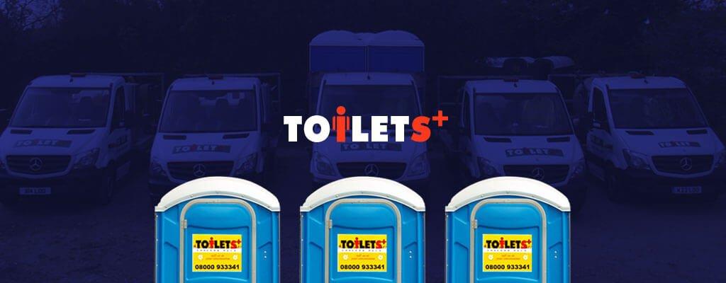 Toilets+ banner logo