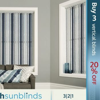 Up to 20% off vertical blinds