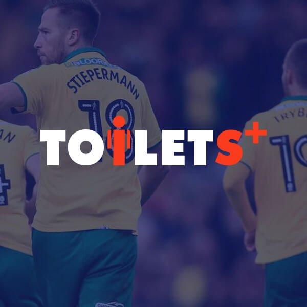 Toilets+ football logo