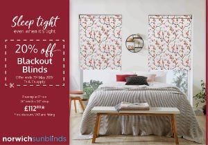 20% off blackout blinds