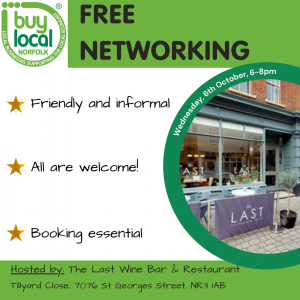 Buy Local Norfolk 6th October Networking