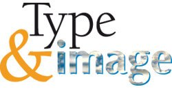 type and image logo